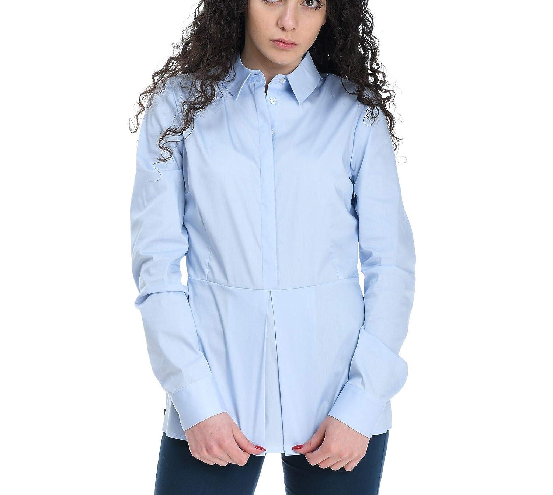 Brand Size 40 MANILA GRACE Women's C009CUMD533 Light bluee Cotton Shirt
