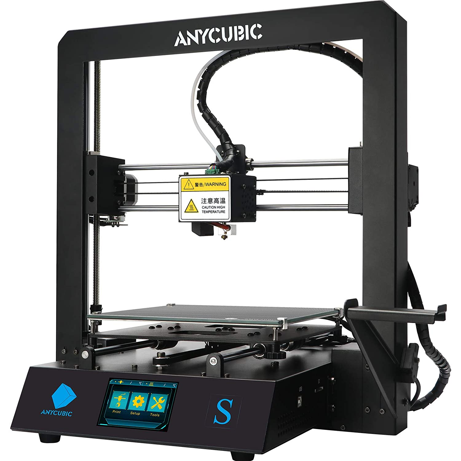 Anycubic Mega S 3d Printer Upgrade Metal Frame Fdm 3d Printer With Extruder And Suspended Filament Rack Free Test Pla Filament Works With Tpu Pla Abs 8 27 L X8 27 W X8 07 H Printing Size Amazon Com Industrial Scientific