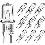 G8 Light Bulbs 35Watt 120Volt Halogen Light Bulb G8 Base Bi-Pin Shorter 35W T4 JCD Warm White Under Cabinet Puck…