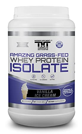 Amazing Grass Fed Whey Protein Powder. The Finest Protein Shake for Healthy Gut Bacteria, Digestive Health, Optimal Absorption of Nutrients, Stronger Immune System 30 Serving, Vanilla Ice Cream