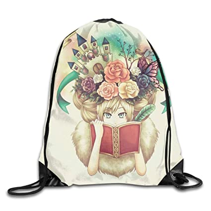 ccad3fa90f57 Amazon.com | Unisex Drawstring Bag Gym Bags Storage Backpack ...
