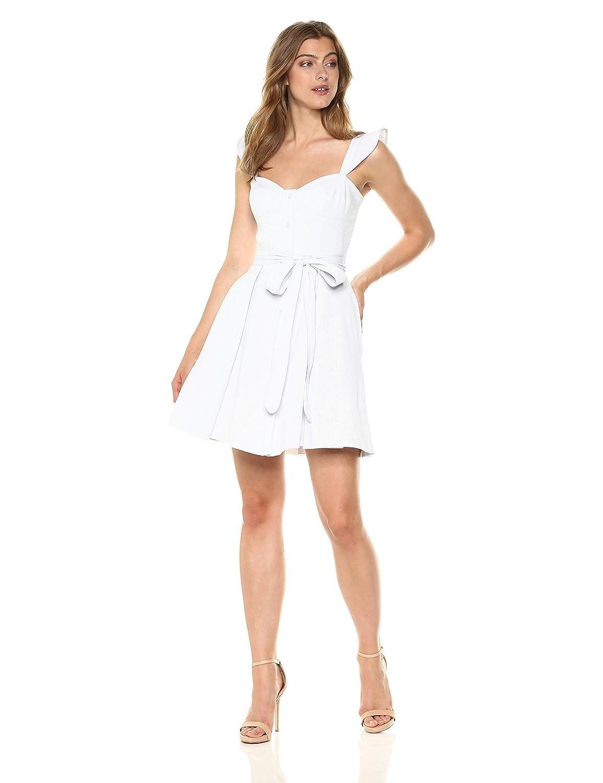 18439934e1 Amazon.com: MILLY Women's Seersucker Classico Corset Ruffle Dress Mini:  Clothing