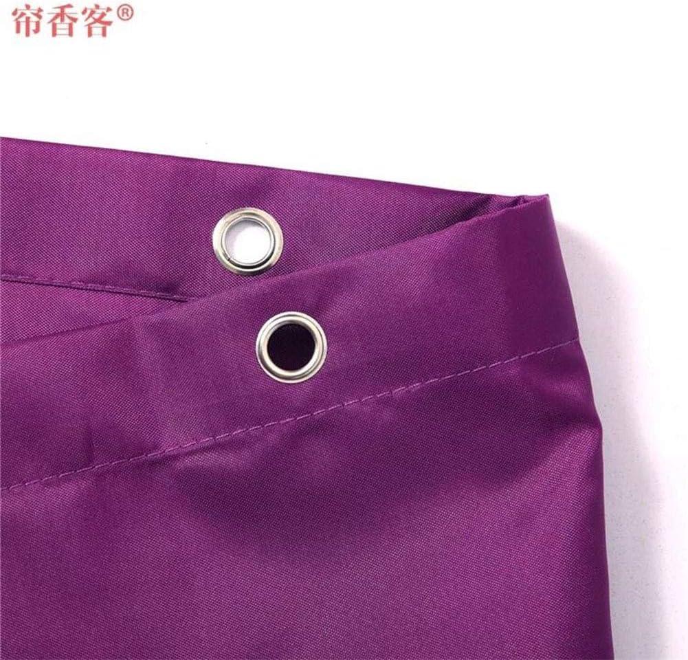 240 JH/&MM Tenda della Doccia Durevole Tessuto Poliestere Impermeabile mildewproof con 12 Ganci Tenda-Viola,200