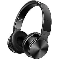 OMORC Audífonos bluetooth de diadema compatibles ,Auriculares Inalámbricos y Pegables, Bluetooth, con Micrófono y Cable de Audio, Larga duración para todos Smartphones ,Escape Wireless Over-Ear Headphones-negro Audífonos bluetooth de diadema compatibles