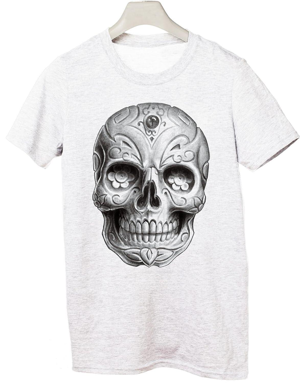 Camiseta Calavera Mexicana, Tattoo. - Tamaño para Hombres por ...