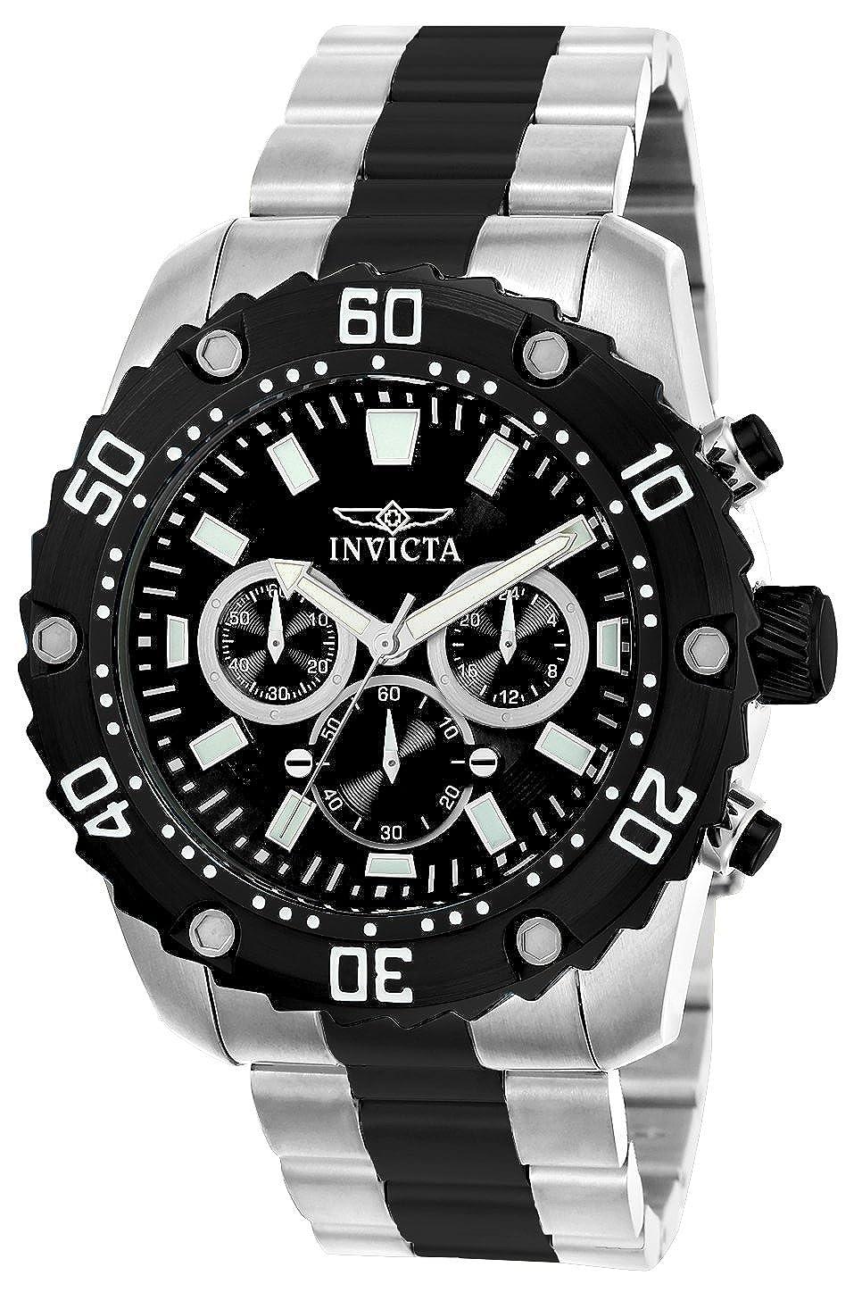 Invicta 22521 Pro Diver Reloj para Hombre acero inoxidable Cuarzo Esfera negro