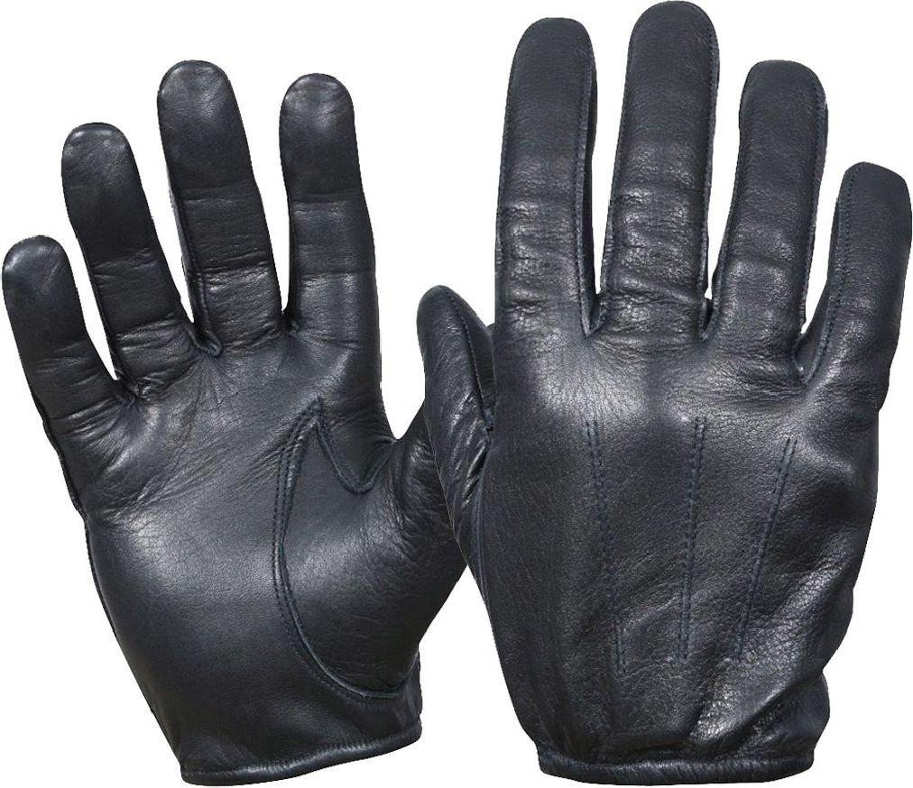 ブラックTactical警察Cut Resistantレザー手袋 X-Large  B07DLY2CDX