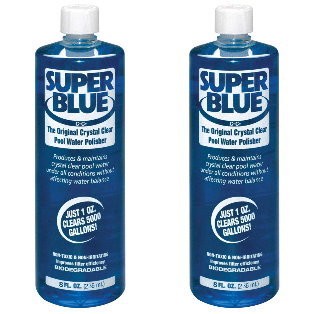 Robarb 20152A Super Blue Crystal Clear Pool Water Clarifier, 8 Fl Oz (2 Pack) by Robarb