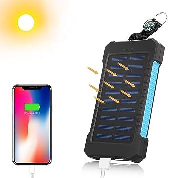 Mibote 12000 mAh puertos USB cargador solar Solar Power Bank ...