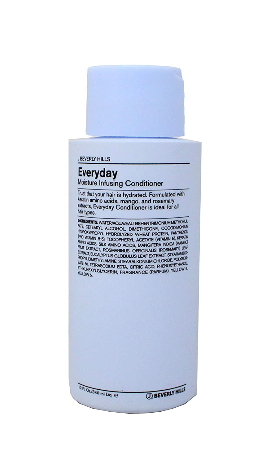 J Beverly Hills Blue Everyday Conditioner, Moisture Infusing Conditioner, 12 oz Bottle