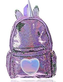 d40c38f1480d Amazon.com | Kitty Cat Sequin Backpack for Girls -- Deluxe Kitten ...
