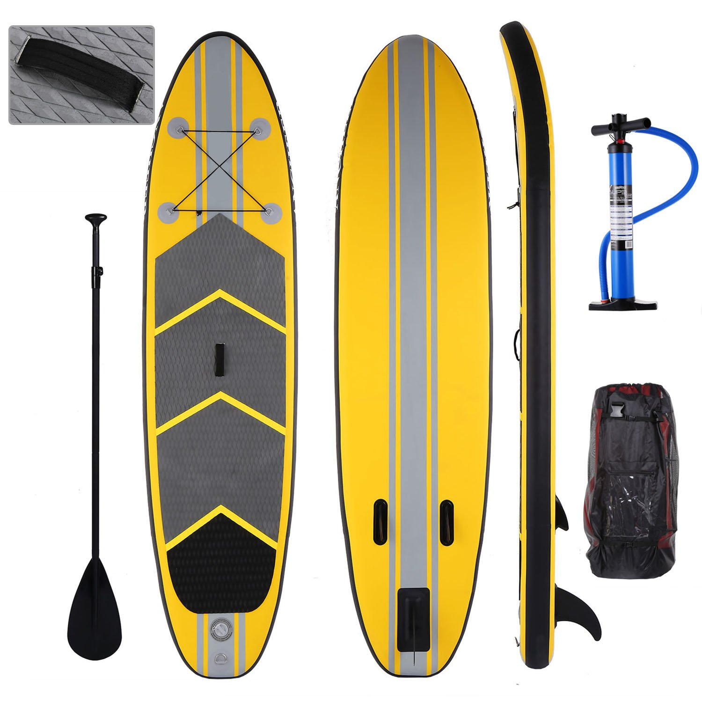 Befied Planche de Surf Stand Up Paddle Gonflable en PVC Ultra /Épais /à Double Paroi Plate-forme EVA Traction Maximale Durabilit/é Capacit/é 136KG avec Palette R/églable Pompe et Sac /à Dos