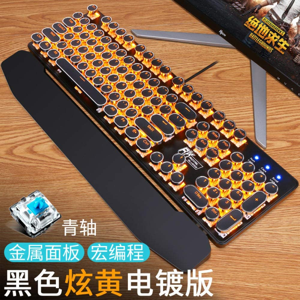 Teclado retro portátil punk juego mecánico teclado-negro ...