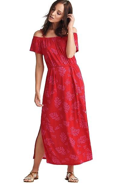 Ellos Women\'s Plus Size Off-The-Shoulder Maxi Dress