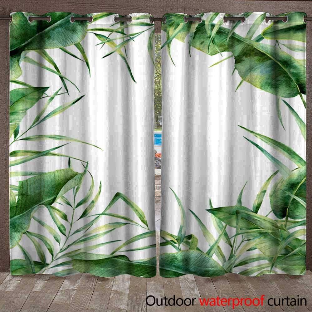 Home Patio cortina de exterior acuarela exótica marco floral ...