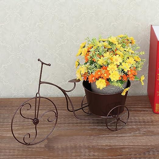 LWJJHJ Soporte de Flores Soporte de Bicicleta cestas de Flores ...
