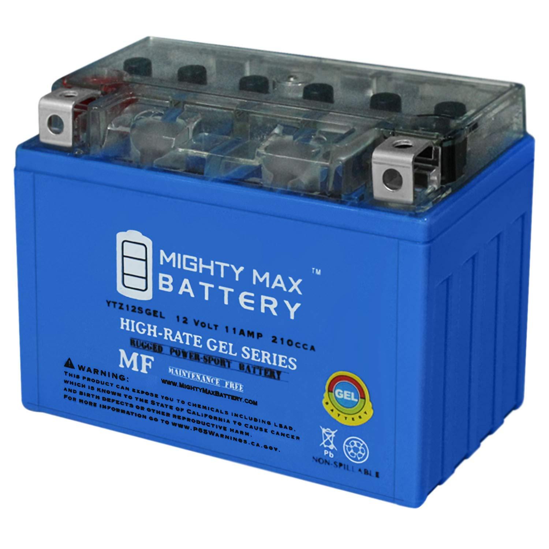YTZ12SGEL - 12V 11AH 210 CCA - Gel SLA Power Sport Battery - Mighty Max Battery Brand Product