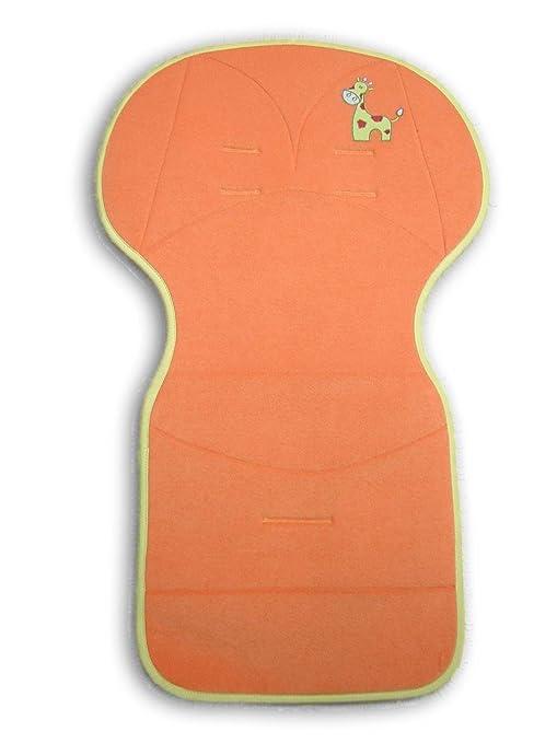 Bolin Bolon universal Cochecito SEAT en toalla Jirafa bordado - 50 x 84 cm - Naranja