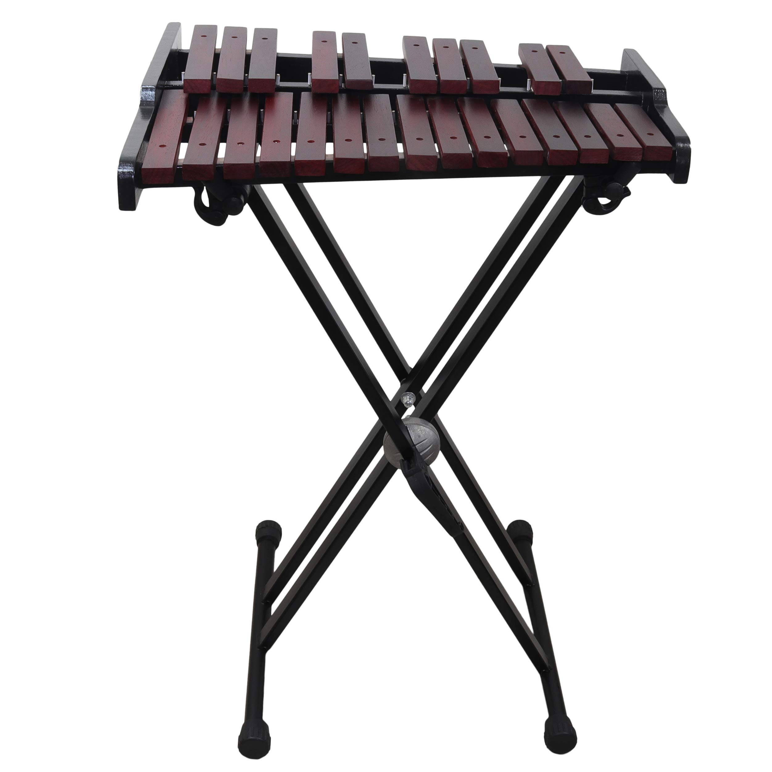 Wooden 25-note Xylophone with stand, 4 Mallets, Carrying bag