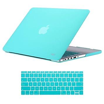 """MacBook Pro 13 """"retina Funda fina de acabado suave protectora rígida funda con teclado"""