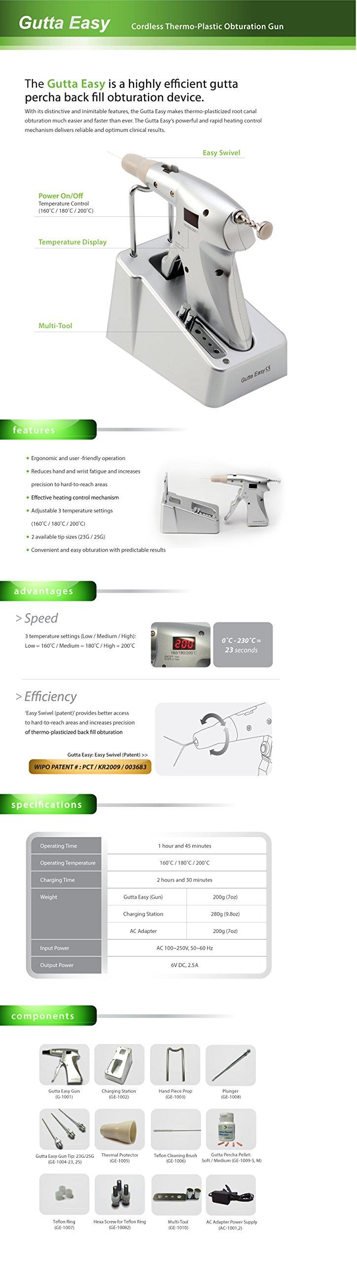 Gutta Easy : Endodontic Cordless Thermoplastic Obturation System Gun