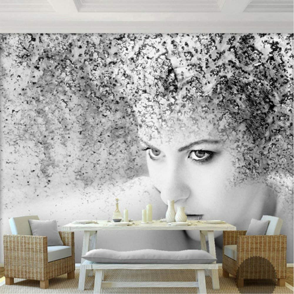 3d Stickers Wall Decorations Murals Wallpaper Fashion Modern Black White Art Abstract People Beauty Background Bedroom Art Girls Tv W 140x H 100cm Amazon Com