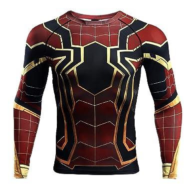 7bb762e5a Amazon.com: Infinity War - Part 3 Spider-Man Compression Shirts: Clothing