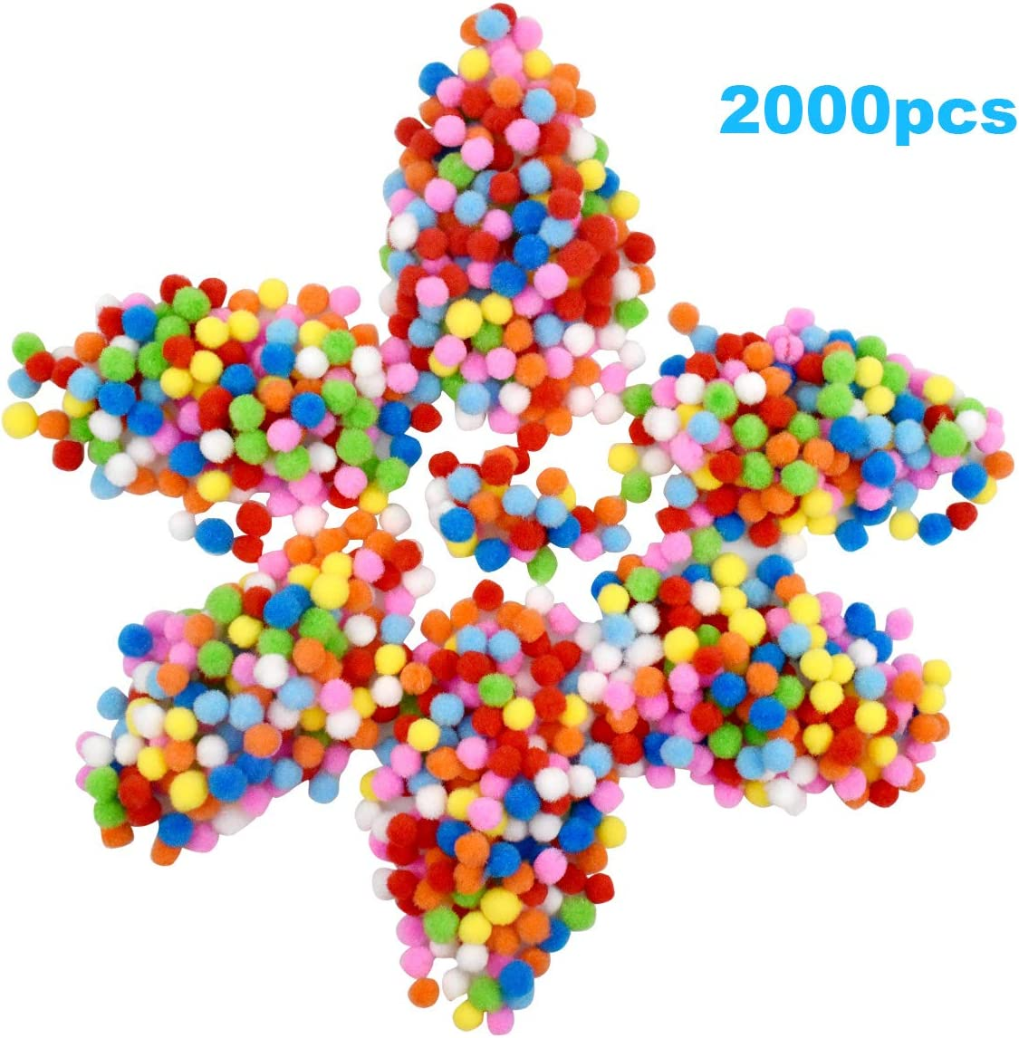 Kissral 2000pcs Pompones de Colores 1 cm de Di/ámetro Pompons para Bricolaje Manualidades de Coser Decoraciones Fiesta Boda Materiales Artesanales para Ni/ños y Adultos