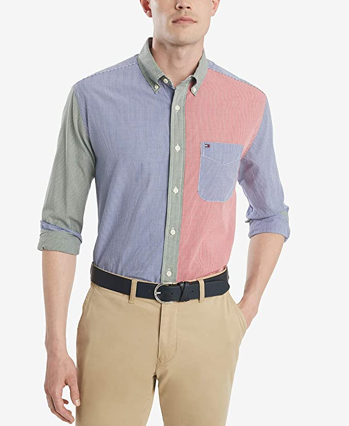 Tommy Hilfiger 汤米希尔费格 纯棉 男式长袖衬衫 XS码2.8折$16.66 海淘转运到手约¥132
