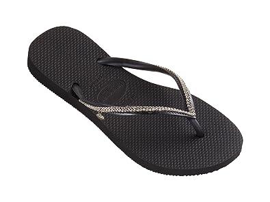 Womens Slim Metal Mesh Flip Flops Dark Grey 1 35-36 M BRA Havaianas 5wjXY