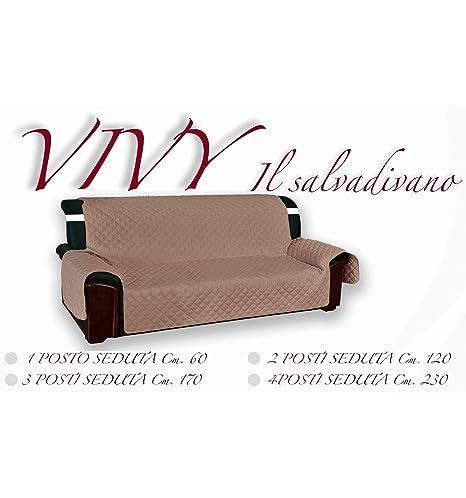 Funda acolchada Vivy para sofás de 1 plaza, color gris liso ...