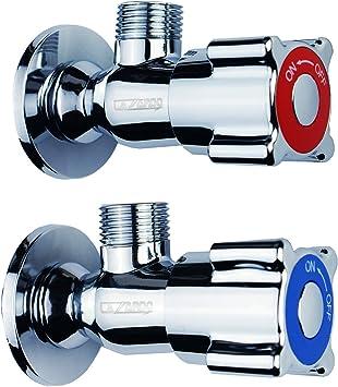 Lazardo - 9x Eckventil für Wasseranschluss von Spüle in Bad oder Küche -  Wasser-Anschluss Eckventile mit Rosette gratis