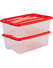 Iris 103424 Aufbewahrungsboxen 'New Top Box' 5 L, Plastik, Klar, 19,7 x 28,5 x 14.4 cm