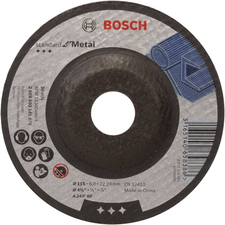 Bosch 2608603181 Standard for Metal Grinding disc with Depressed Centre