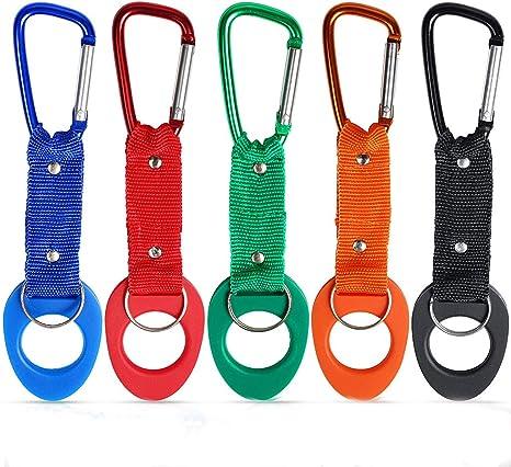 Water Bottle Holder Hook Belt Clip Carabiner Hiking Camping Hook Key Travel UK