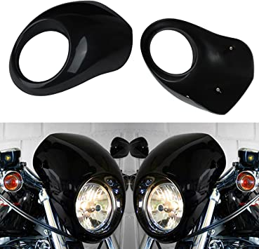 """39mm Fork Mount For Harley 5 3//4/"""" Motorcycle Front Headlight Fairing Cowl Mask"""