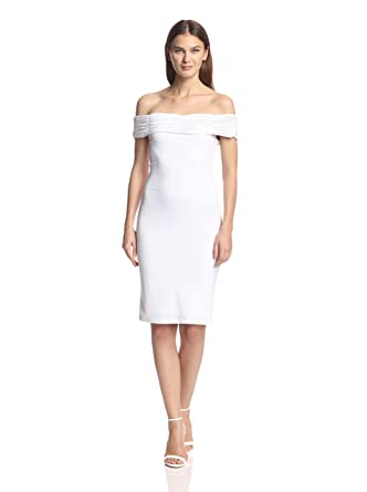 1a1dcb5e43d9 Amazon.com: Rachel Zoe Women's Off Shoulder Jersey Dress, Optic ...
