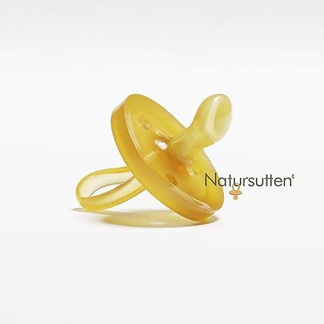 Natursutten Original - Chupete ecológico de goma natural con tetina ortodóntica, de 0 a 6 meses: Amazon.es: Bebé