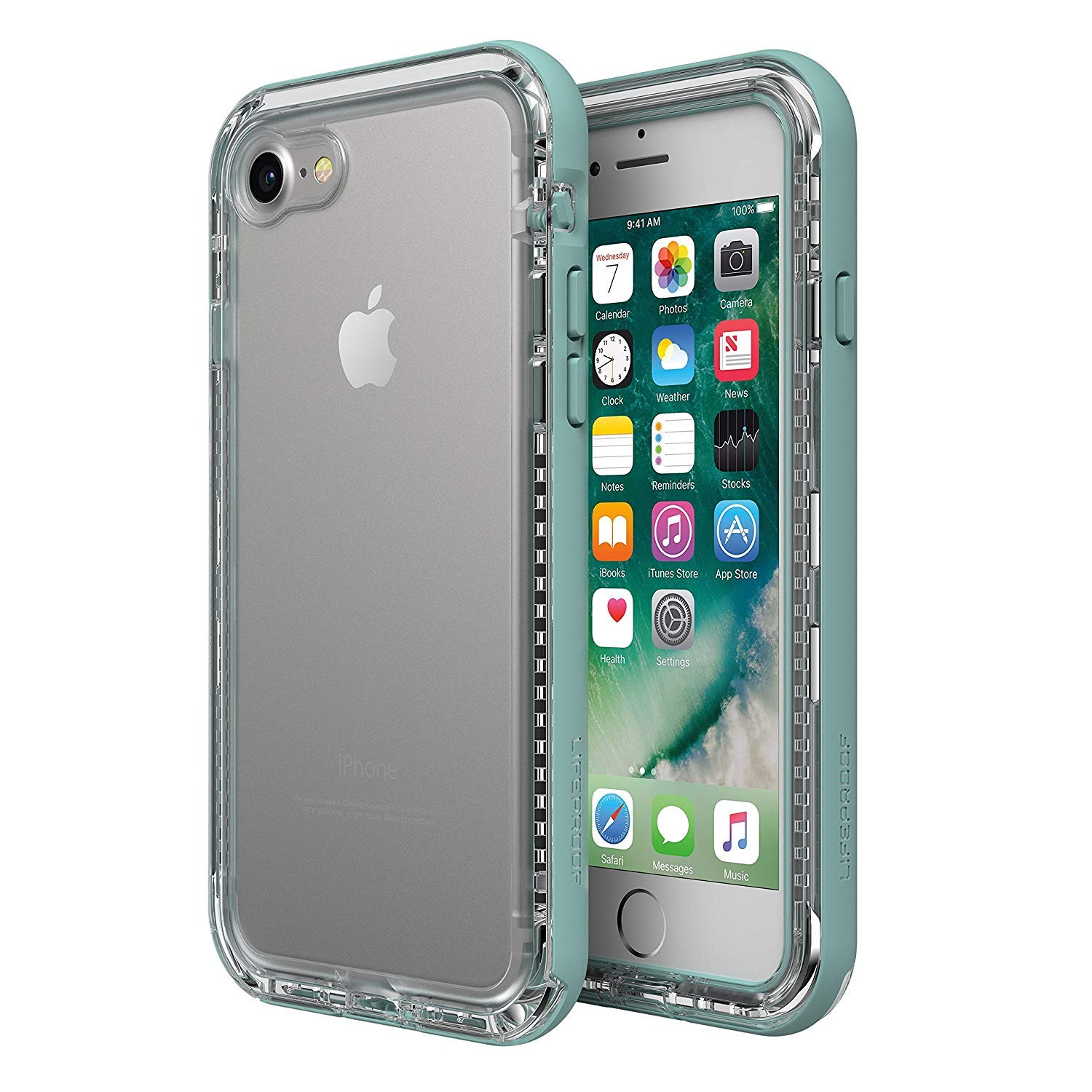 LifeProof Next Case for iPhone 8 and iPhone 7 - BEACH PEBBLE (CLEAR / SLEET GRAY) by LifeProof (Image #1)