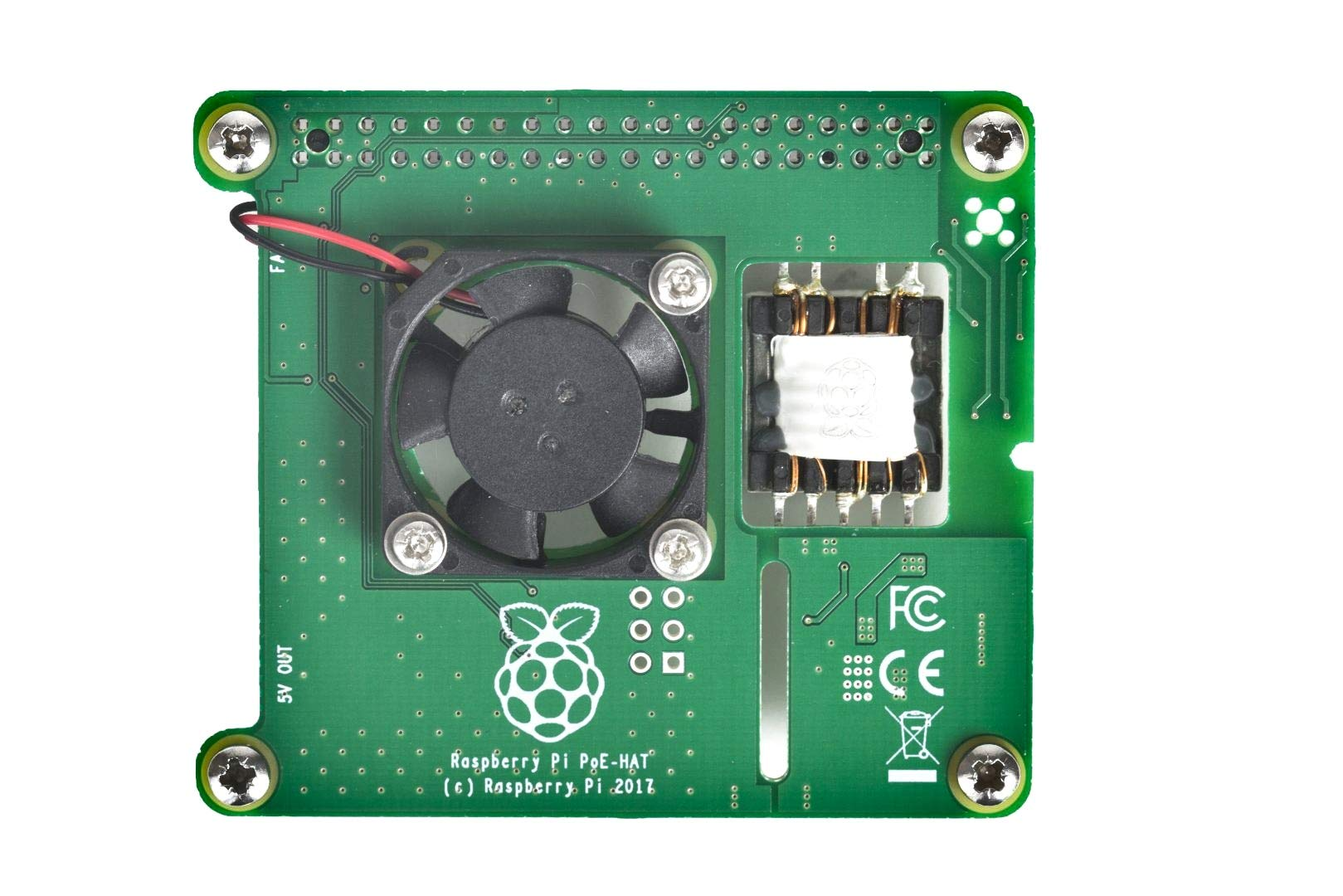 Official Raspberry Pi Power Over Ethernet (PoE) HAT for Raspberry Pi 3 B+ and 802.3af PoE Network