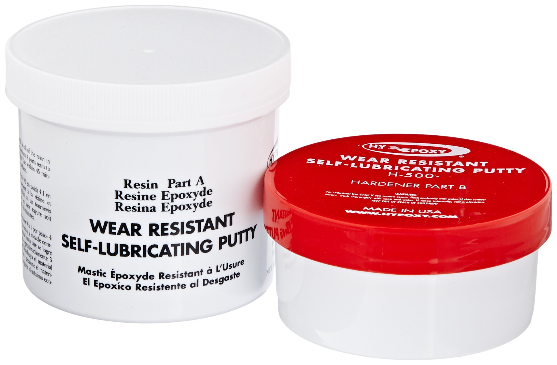 Hy-Poxy H-500 1 lbs Wear Resistant Epoxy Putty Repair Kit
