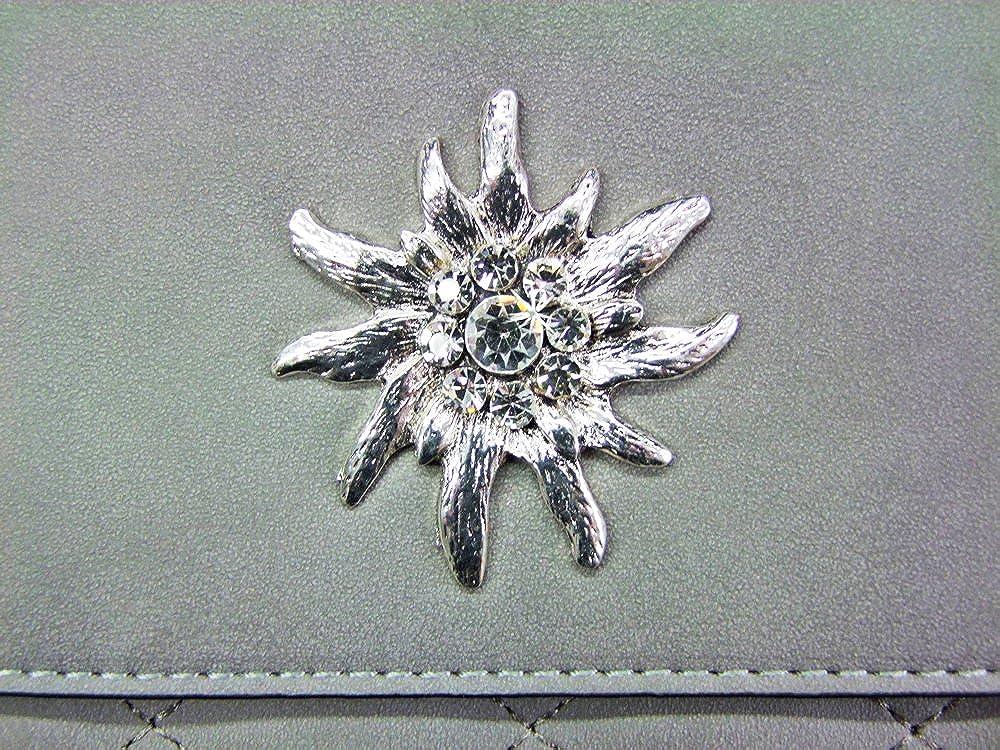 80c3a43a5a81e Trachtenland - Umhängetasche Gesteppt mit Edelweiß oder Hirsch Applikation  - Trachten Dirndl Handtasche größeres Bild