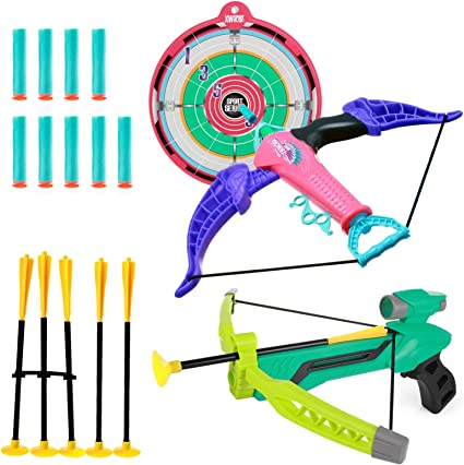Kids Archery Practice Arrow Play Toy Bow Target Game Home Outdoor Shoot
