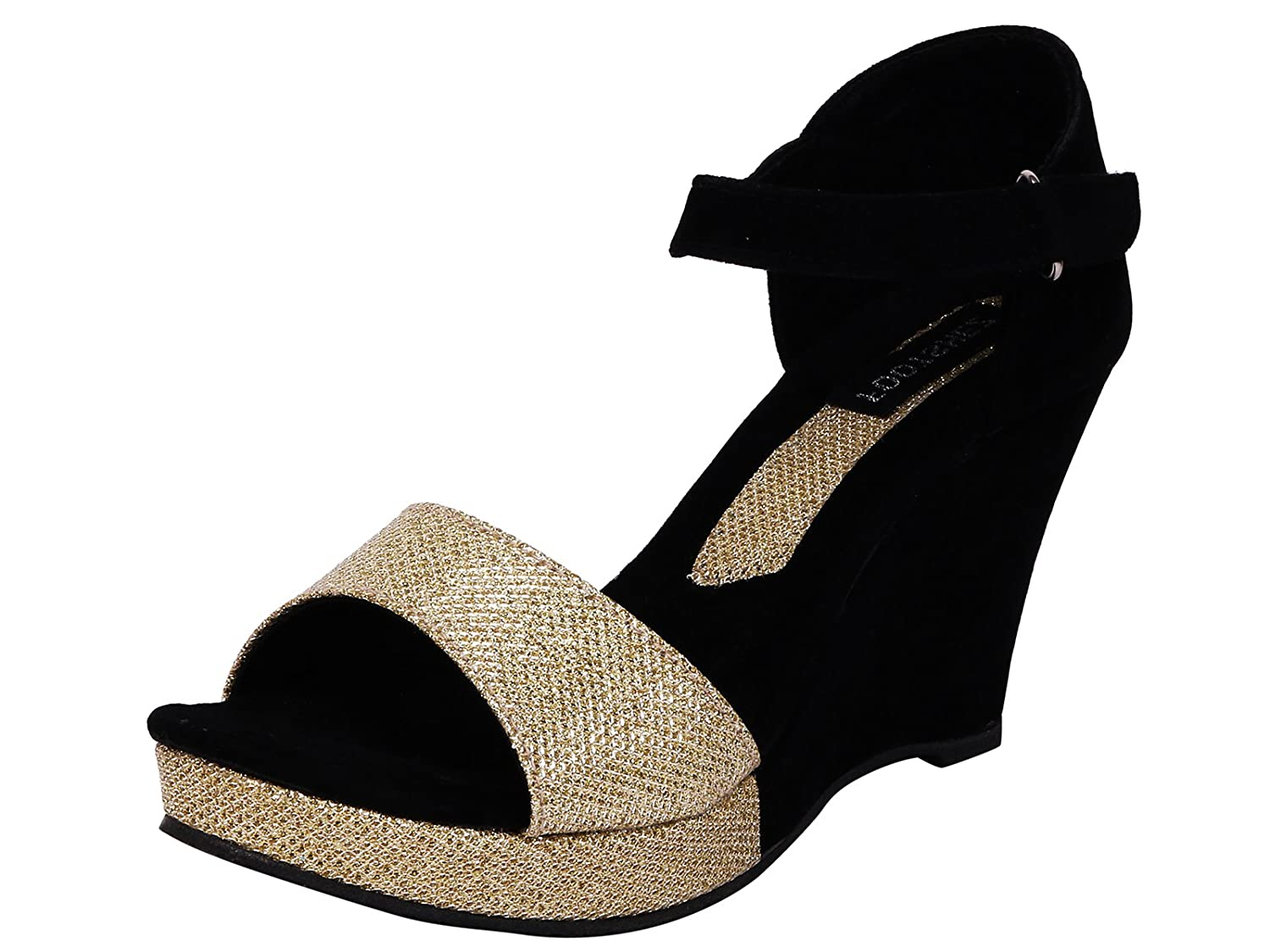 2cf92d62171 Footshez New Arrival Best Hot Selling Women s Black Casual Wedges Low Price  Sale