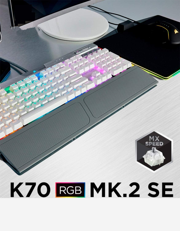 Reposamuñecas para Corsair K70 RGB K63 K65 K70 MK2 SE K68 RGB Strafe K95 teclado muñeca resto pad protección palma (K70 MK.2 SE (gris))