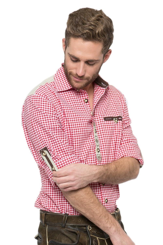 OS-Trachten Herren Trachtenhemd Colin rot H040076