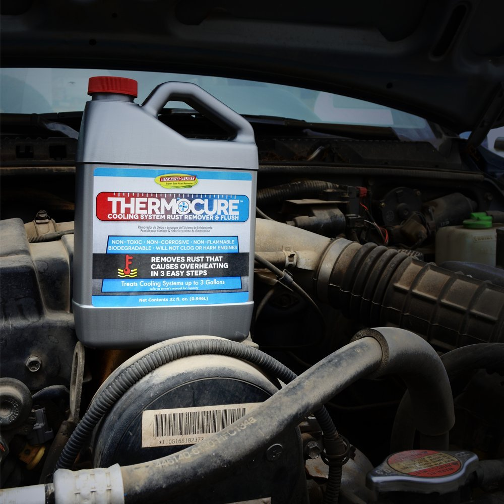 Thermocure Coolant System Rust Remover Safely Removes Dark Red Engine The From Cars Cooling 32 Oz Bottle Automotive