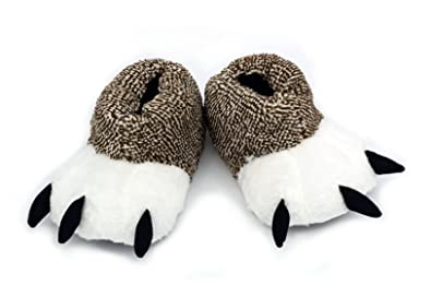 7e5ea98f138d Ibeauti Unisex Polar Bear Paw Slippers Boots Plush Furry Animal Paw House  Slippers for Couples (