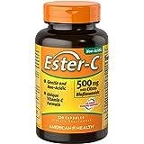 American Health Ester-C with Citrus Bioflavonoids Capsules - Gentle On Stomach, Non-Acidic Vitamin C - 500 mg, 120 Count…