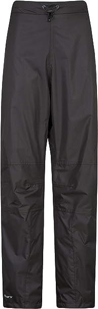 Mountain Warehouse Spray Wasserfeste Überhose Für Damen Hose Mit Netzfutter Ripstop Regenhose Mit Reißverschluss Am Bein Für Frühling Wandern Und Radfahren Bekleidung
